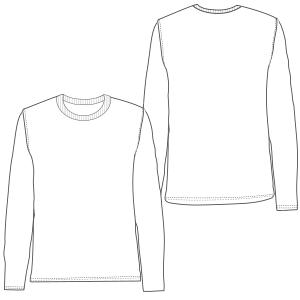 Nuestros patrones han sido probados y estan listos para la confección Remera  manga larga 645 HOMBRES 6e599379831d6