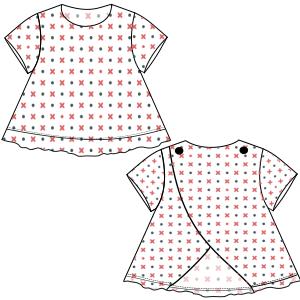 78e04b4fd Patrones y moldes para usuarios domésticos y profesionales Vestido 3096 NENAS  Vestidos
