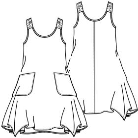 ac744635c Patronaje industrial  patrones moldes ropa para marcas de nivel mundial  Vestido 2814 DAMA Tallas Grandes