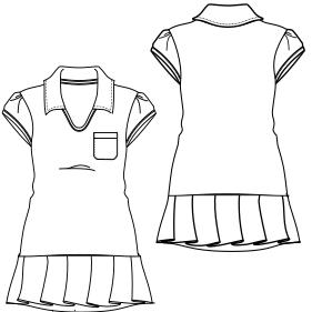 28b281868 Patronaje industrial  patrones moldes ropa para marcas líderes Vestido Tenis  7613 DAMA Vestidos