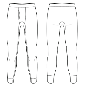 6acc53c46a0c Patronaje industrial: patrones moldes ropa para marcas de nivel mundial Ropa  interior 7310 HOMBRES Ropa