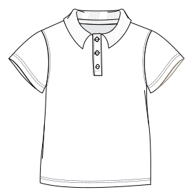 Easy dress patterns for  sew School Polo 0305 UNIFORMS Sets