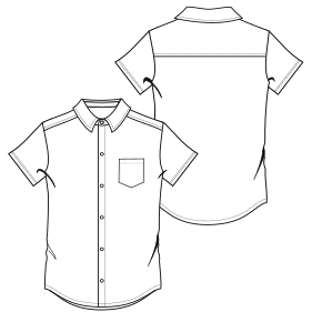 All our patterns have been tested and they are prepared for garments production Shirt 800 MC MEN Shirts