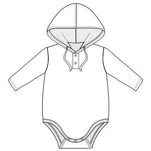 Easy dress patterns for domestic and professional users Body 6057 BABIES Bodies