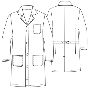 Select your   sewing patterns Doctor smock WC 6002 UNIFORMS Shirts