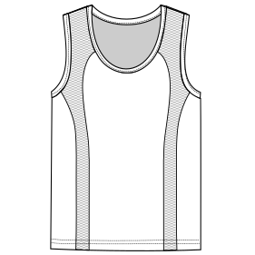 Browse our  sewing patterns Runing top tank 6829 MEN T-Shirts