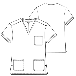 Browse our  sewing patterns Doctor jacket 2951 UNIFORMS Shirts