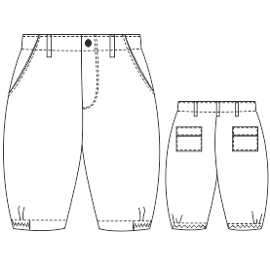 All our patterns have been tested and they are made for garments production Bermudas 00223 BABIES Trousers
