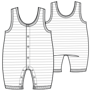 All our patterns have been tested and they are made for garments production Dungarees 6678 BABIES One-Piece
