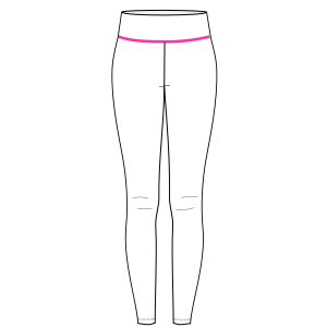 All our patterns have been tested and they are prepared for garments production Sport leggings 7070 WOMEN Trousers