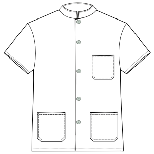 Easy dress patterns for  stitch Dentist  2828 UNIFORMS Shirts