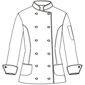 Select from a offer of dress patterns Chef Jacket W 6803 UNIFORMS Shirts