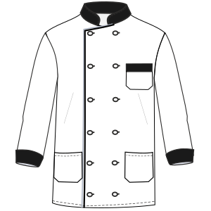 All our patterns have been tested and they are made for garments production Chef Jacket 6815 UNIFORMS Shirts