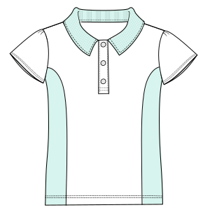 All our patterns have been tested and they are prepared for garments production Shool T-shirt 6047 UNIFORMS T-Shirts