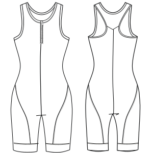 Easy dress patterns for domestic and professional users Sport suit 6982 LADIES One-Piece