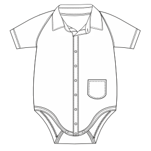 Browse our shop for sewing patterns Body 667 BABIES One-Piece