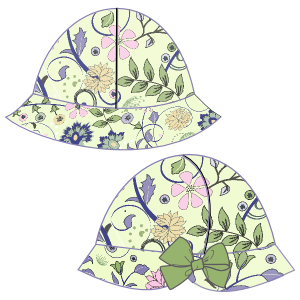 Consult our shop for sewing patterns Poplin hat 24 BABIES Accessories