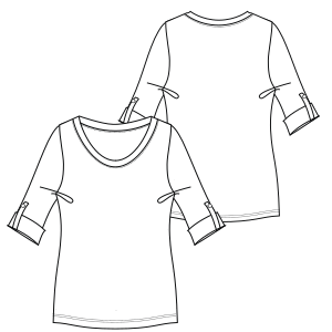 All our patterns have been tested and they are prepared for garments production T-Shirt 2812 LADIES Large Sizes