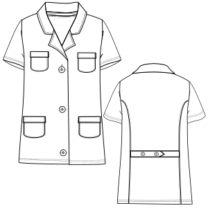 Browse through a offer of costume patterns Smock MC 2898 UNIFORMS One-Piece