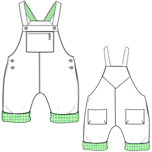 Browse our  sewing patterns Body suit 6020 BABIES One-Piece