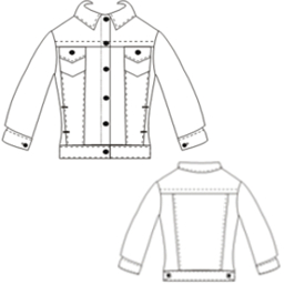 Dressmaking patterns for professionals Jean Jacket 781 BABIES Jackets