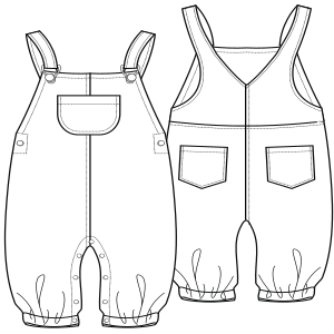 Dressmaking patterns for professionals Jean dungarees 0123 BABIES One-Piece