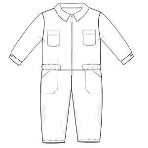 Browse our  sewing patterns Overall UNIFORMS One-Piece