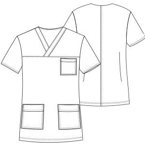 Browse through a  and nice assortment of dress patterns Nurse Jacket 3033 UNIFORMS Shirts
