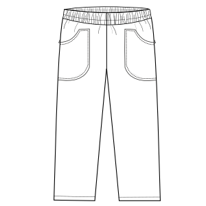 Browse our  sewing patterns Dentist trousers 2828 UNIFORMS Trousers