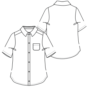 Choose your   sewing patterns Shirt WC 6828 UNIFORMS Shirts