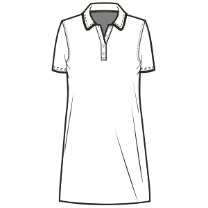 All our patterns have been tested and they are prepared for garments production Polo Dress WOMEN Large Sizes