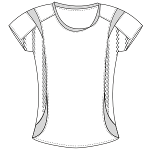 All our patterns have been tested and they are prepared for garments production T-Shirt 2994 WOMEN Large Sizes