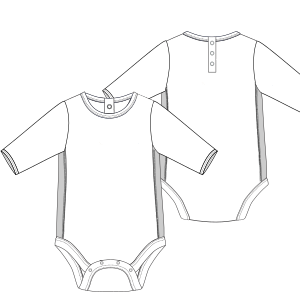 Browse through a offer of costume patterns Bodysuit 6732 BABIES Bodies
