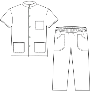 Browse our  sewing patterns Dentist set 2828 UNIFORMS Sets