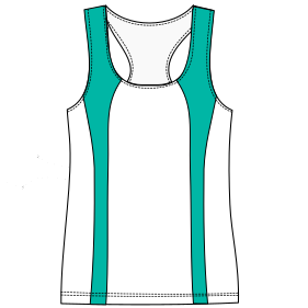 Browse our shop for sewing patterns Runing top tank 6816 LADIES T-Shirts