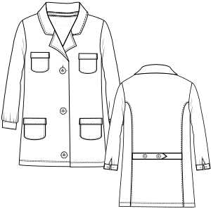 Dressmaking patterns for professionals Smock LS 2898 UNIFORMS One-Piece