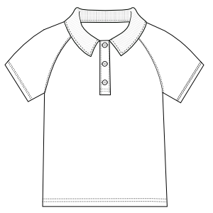 Dressmaking patterns for professionals Sports Shirt 0306 BOYS T-Shirts