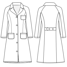 All our patterns have been tested and they are ready for garments production Women overall 6860 UNIFORMS Shirts