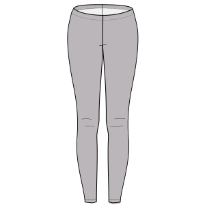 All our patterns have been tested and they are made for garments production Sport leggings 6696 WOMEN Trousers