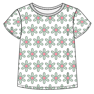 Browse through a offer of dress patterns T-Shirt 002 GIRLS T-Shirts