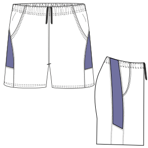 Easy dress patterns for domestic and professional users Tennis Short 3022 BOYS Shorts