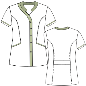 Consult our shop for sewing patterns Nurse Jacket 3004 UNIFORMS Sets