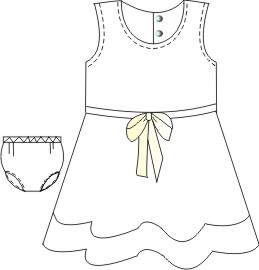 All our patterns have been tested and they are made for garments production Dress Rustic 0011 BABIES Dresses