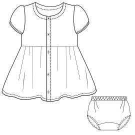 Browse through a  and nice assortment of dress patterns Dress Gabardine 0014 BABIES Dresses