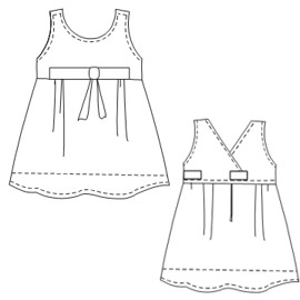 Easy dress patterns for domestic and professional users Poplin Dress  0013 BABIES Dresses