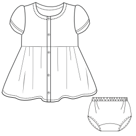 Browse our  sewing patterns Dress Gabardine 0014 BABIES Dresses