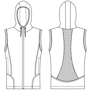 All our patterns have been tested and they are prepared for garments production Waistcoat 2995 WOMEN Waistcoats
