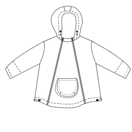 All our patterns have been tested and they are ready for garments production Nylon Jacket 00201 BABIES Jackets