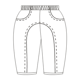 All our patterns have been tested and they are made for garments production Polar Trousers 00127 BABIES Trousers