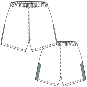 Choose your   sewing patterns Football Short 2850 MEN Shorts